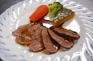 合鴨のステーキ。